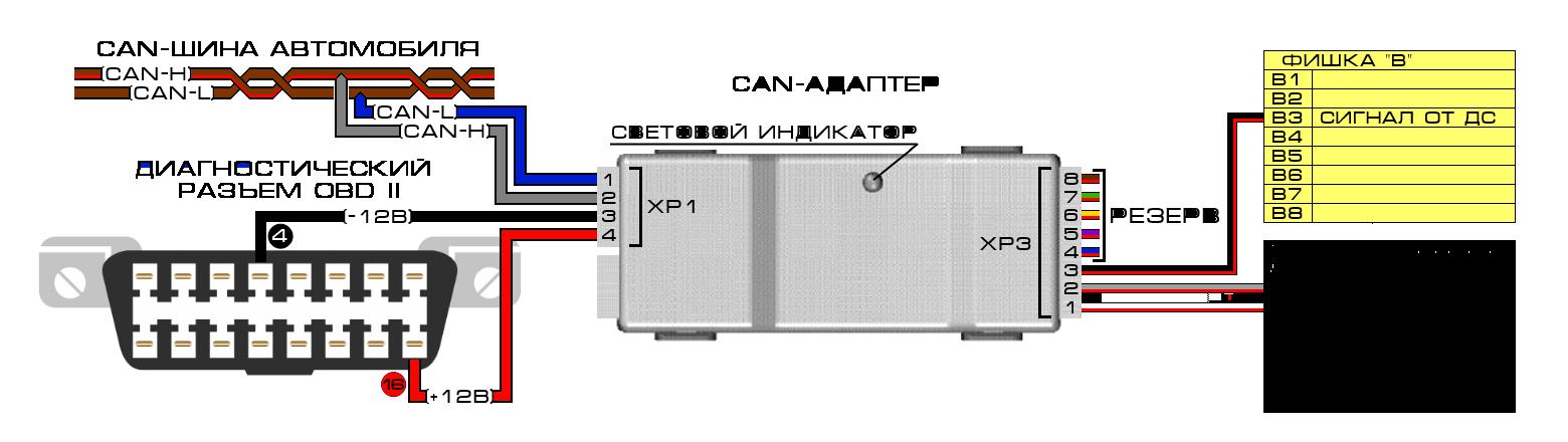 Схема на адаптер для диагностики авто