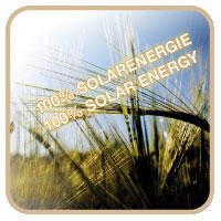 100 percent solar powered