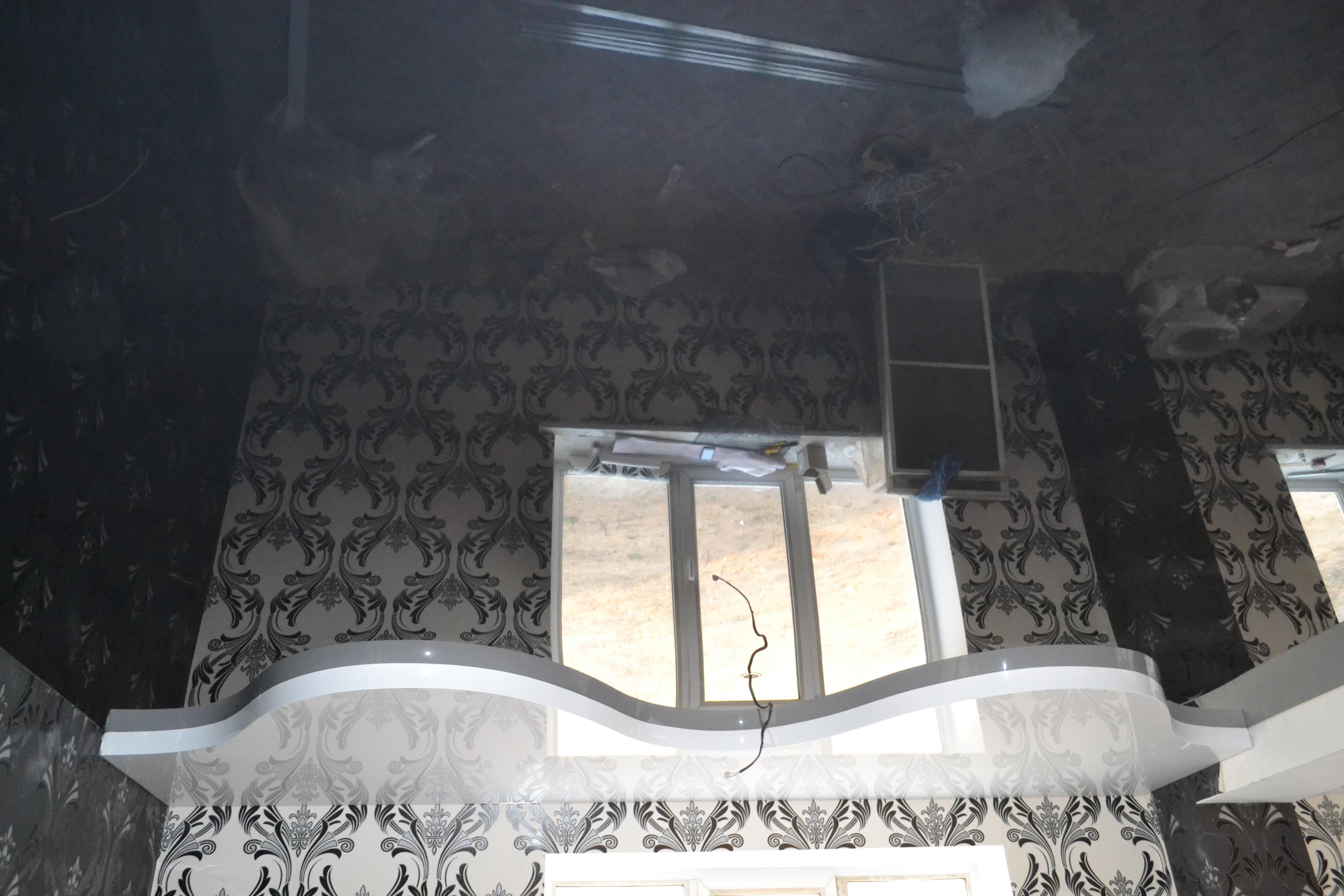 черный потолок криволинейный