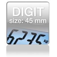 Piktogramm: Digit size 45 mm