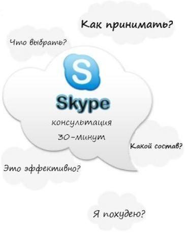 skype консультация по спортивному питанию