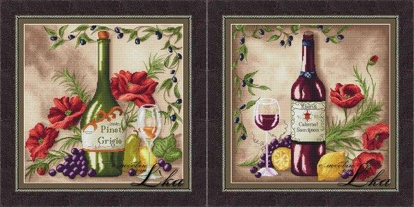 Схемы вышивки Vine Riserva