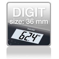 Piktogramm: Digit size 36 mm